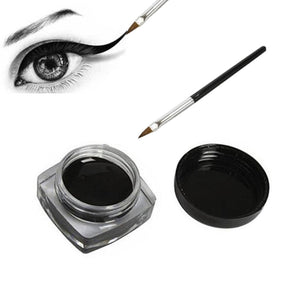 Black Waterproof Eyeliner cream Make Up Beauty Comestics Long-lasting Eye Liner gel Makeup Tools for eyeshadow with brush