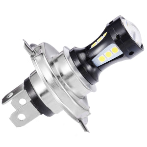 Universal 6500K Motorcycle Headlight Head Light Lamp 3030 LED Bulb Hi-Lo Beam Wireless Direct Install For Yamaha