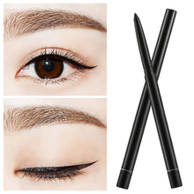 Load image into Gallery viewer, 1Pcs Double-use Natural Eyebrow Pencil Eye Liner Waterproof Sweat-proof Black Automatically Rotates Makeup Pen  by Allumyth