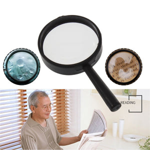 Leziky Top Handheld Reading 5X Magnifier Hand Held Magnifying 25mm Mini Pocket Magnifying Glass Children Magnifying Glass