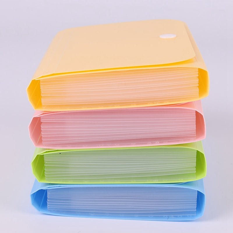 1 Piece Plastic Candy Color A6 File Folder Document Bags Expanding Wallet Bill Folders For Documents School Office Supply