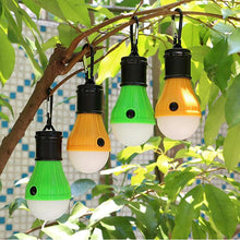 Load image into Gallery viewer, 3LED Tent Hanging Lamp 3 Modes Outdoor SOS Emergency Carabiner Bulb Light Emergency Light Lantern Hiking Energy Saving Lamp