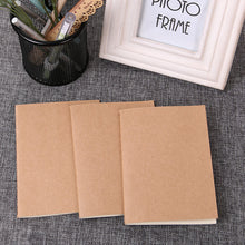 Load image into Gallery viewer, 1PC Cowhide Paper Vintage Cover Travel Journal Notebook Blank Notepad Office School Stationery Supplies