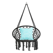 Load image into Gallery viewer, Round Hammock Chair Outdoor Indoor Dormitory Bedroom Yard For Child Adult Swinging Hanging Single Safety Chair Hammock by Ridwiwa