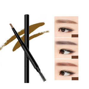 Umatuty New 4 Color Eyebrow Pencil Natural Waterproof Rotating Automatic Eyeliner Eye Brow Pencil with Brush Beauty Cosmetic Tool by Umatuty