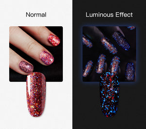Valgus Red Diamond Glitter Gel Nail Polish Semi Permanent UV All For Manicure Hybrid Varnishes For Nail Art Design Top Base
