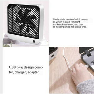 Desktop Square Fan Electric Fan Folding Telescopic Floor Fan Desktop Fan Desktop Air Conditioner Cooler