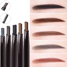 Load image into Gallery viewer, Umatuty New 4 Color Eyebrow Pencil Natural Waterproof Rotating Automatic Eyeliner Eye Brow Pencil with Brush Beauty Cosmetic Tool by Umatuty