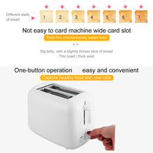 Load image into Gallery viewer, Automatic Toaster 2-Slice Breakfast Sandwich Maker Machine 800W 220V 7-speeds Baking Cooking Appliances Home Office Toaster