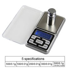 Load image into Gallery viewer, 0.01/0.1g Precision LCD Digital Scales 500g/1/2/3kg Mini Electronic Grams Weight Balance Scale For Tea Baking Weighing Scale#2