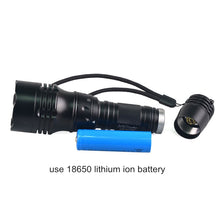 Load image into Gallery viewer, TMWT 1000LM Professional Scuba Diving Flashlight 18650 Powerful XML T6 10W LED Diving Light Lamp Underwater 100 meters