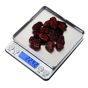 0.01/0.1g Precision LCD Digital Scales 500g/1/2/3kg Mini Electronic Grams Weight Balance Scale For Tea Baking Weighing Scale#2