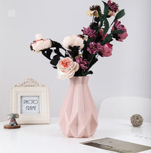 Load image into Gallery viewer, Flower Vase Decoration Home Plastic Vase White Imitation Ceramic Flower Pot Flower Basket Nordic Decoration Vases for Flowers