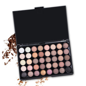 Uocasi 40 Colors Matte Shimmer Eyeshadow Palette Smoky Pigment Long Lasting Makeup Palette Glitter Eye Shadow Pallete Cosmetics
