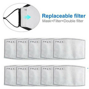 10 pcs PM 2.5 Filter Pads -Use it in your Face Scarf Mask