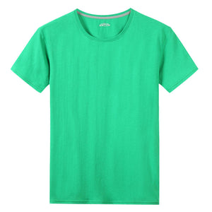 Short sleeve T-Shirts Men Women 100% Cotton Summer Short Male Female Basic Tshirts Plain Round Neck Plus Size 4XL Tees shirt