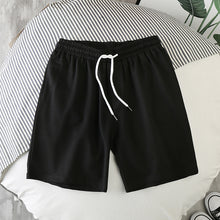 Load image into Gallery viewer, Men Shorts Hot Summer Cotton male Shorts Fashion Solid Color Elastic Waist Sandy beach Shorts Leisure Bodybuilding workout Loose Shorts Mens