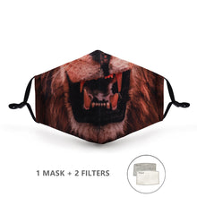 Load image into Gallery viewer, Fashion Reusable Protective Cover PM 2.5 Filter Pressure Mouth Mask Anti Dust Face Mask Windproof Mouth-Muffle Bacteria-proof Flu Mask