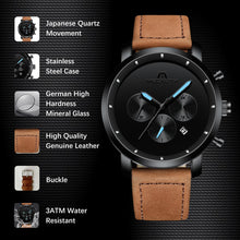 Load image into Gallery viewer, 8021M | Quartz Men Watch | Leather Band