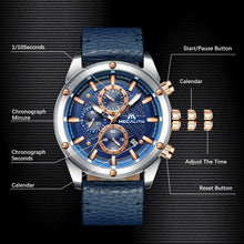 Load image into Gallery viewer, 8004M | Quartz Men Watch | Leather Band