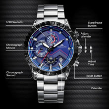 Load image into Gallery viewer, 0074M | Quartz Men Watch | Stainless Steel Band