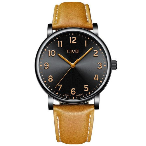 2088C | Quartz Men Watch | Leather Band