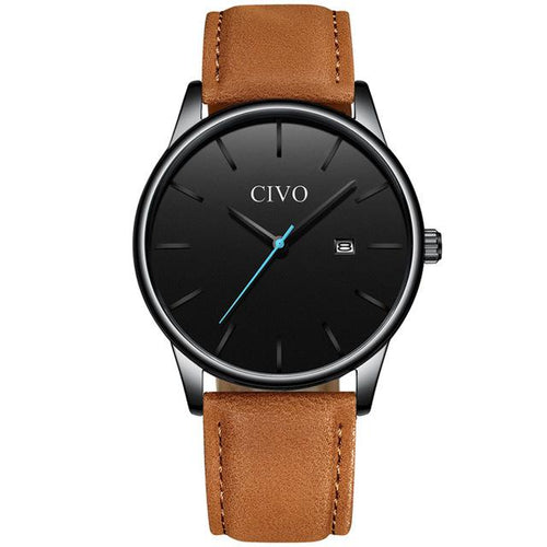 8082C | Quartz Men Watch | Leather Band