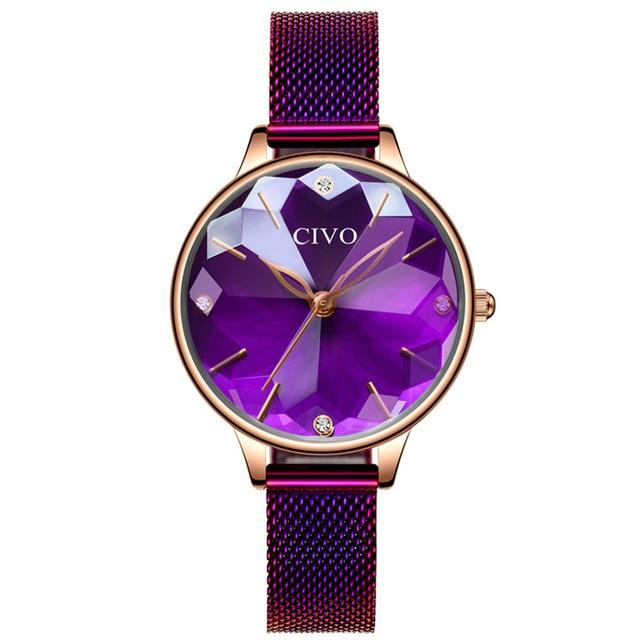 8065C | Quartz Women Watch | Mesh Band