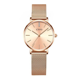 8054C | Quartz Women Watch | Mesh Band