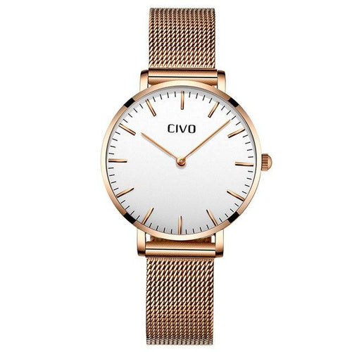 8011C | Quartz Women Watch | Mesh Band