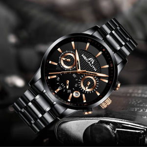 8007M | Quartz Men Watch | Stainless Steel Band