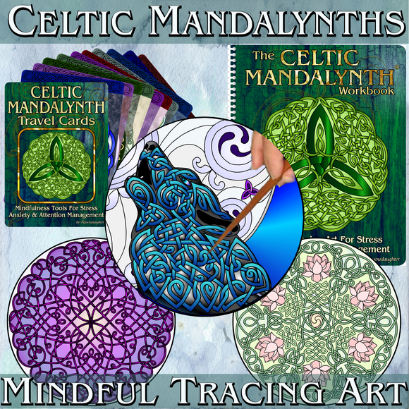 celtic mandalynth, mindful, tracing, meditation, stress management, anxiety management, attention management