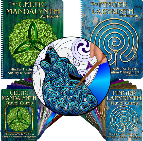 Mindful Meditation Art, Celtic Mandalynths and Finger Labyrinths for stress, anxiety and attention management