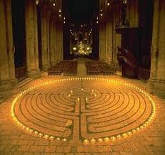 Chartres Cathedral Labyrinth by Candle Light