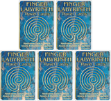 Finger Labyrinth Travel Cards 21-Count Pack - 5 Pack Bundle