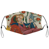 Reclining Lovers Medieval Illumination Face Mask