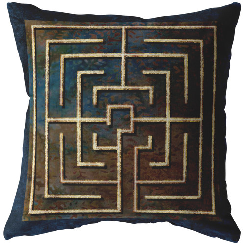 Conimbriga Labyrinth Throw Pillow