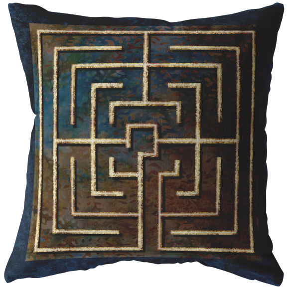 Conimbriga Finger Labyrinth Throw Pillow
