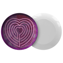Load image into Gallery viewer, Heart Labyrinth ThermoSāf® Polymer Dinner Plate