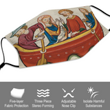 Boat Ride Medieval Illumination Face Mask