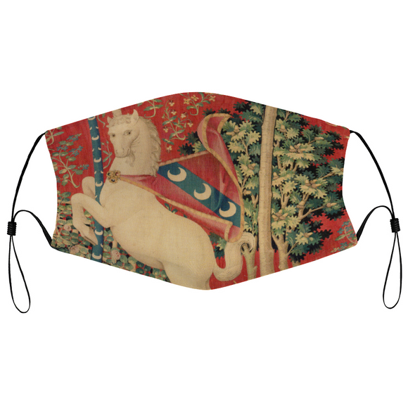 White Unicorn - The Unicorn Tapestries Face Mask