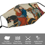 Rescuing M'Lady Medieval Illumination Face Mask