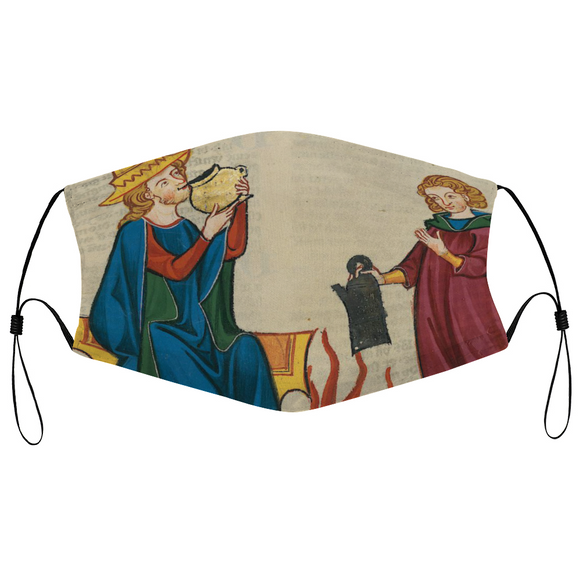 Another Cupfull M'Lord medieval Illumination Face Mask
