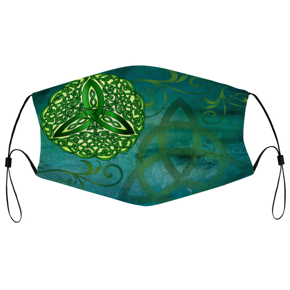 Celtic Trinity Face Mask - Green