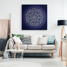 Load image into Gallery viewer, Celtic Art Burst in Dark Blue Canvas Wall Art