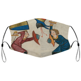 Swords and Bucklers Medieval Illumination Face Mask