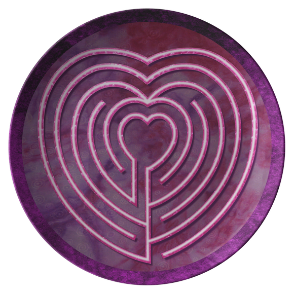 Heart Labyrinth ThermoSāf® Polymer Dinner Plate