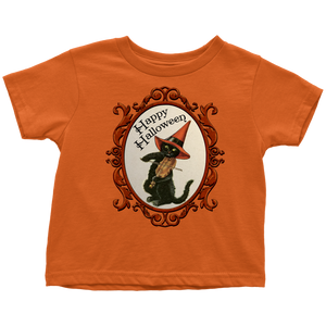 Happy Halloween Vintage Cat and Fiddle T-Shirt for Men, Women and Toddlers