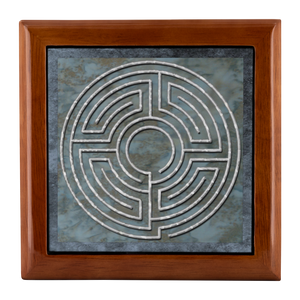 House Of Theseus Labyrinth Jewelry Box in Red Mahogany, Golden Oak, or Ebony Black