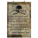 Blackbeard Treasure Quote - Art Print Poster